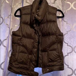 Old Navy brown puffy vest